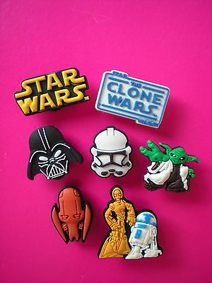 Clog Charm Shoe Button Accessories Fit Bracelet Kid Bands 7 Star Wars
