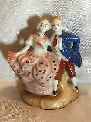 Collectible Vintage Victorian Couple Ceramic Figurine Made in Occupied Japan