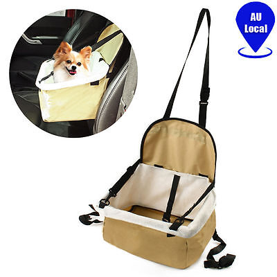 Portable Soft Pet Car Booster Seat Dog Cat Puppy Safety Carrier Cage Travel Bag