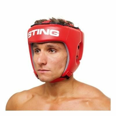 Sting Boxing Competition Leather Head Guard Aiba