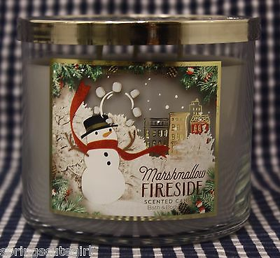 1 Bath & Body Works MARSHMALLOW FIRESIDE 3-Wick Scented 14.5 oz Candle