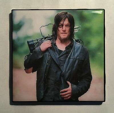 WALKING DEAD Daryl Dixon TV SHOW Ceramic Tile Coaster