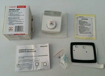 NEW ~ Honeywell H8908C 1000 Premier White Dehumidistat Wall or Duct Mount 24 Vac