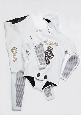 1.5Mm White Freediving Spearfishing Wetsuit