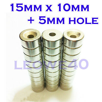 Strong Round Cylinder Magnet 10x3mm with 3mm Hole Rare Earth Neodymium N740