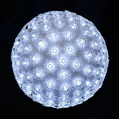 Flashing Light Up Petal Ball Christmas Decoration With 150 Bright White LEDs