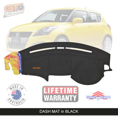 DASH MAT Suzuki Swift Sport AHZ414 Suits ALL Models Jan/2011-2016 DM1206 BLACK