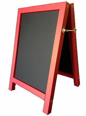 LARGE QUALITY RED A-FRAME CHALKBOARD BLACKBOARD FOR OUTDOOR USE 1000 X 700mm