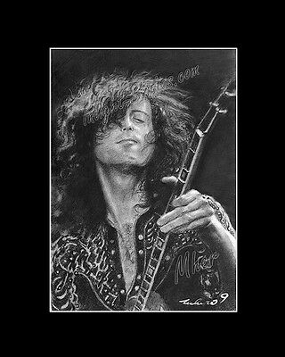 Jimmy Paige Led Zepplin from artist art image picture poster