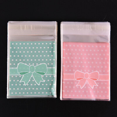 New 100X Self Adhesive Cookie Candy Package Bags Cellophane Wedding Birthday