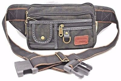 Large Size Military Canvas Fanny Pack Travel Waist Hip Pouch Belly Bag 1106-L