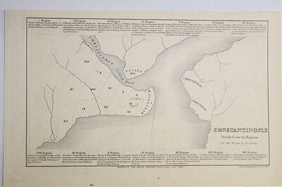Antique John Murray map of Constantinople and its regions-1854