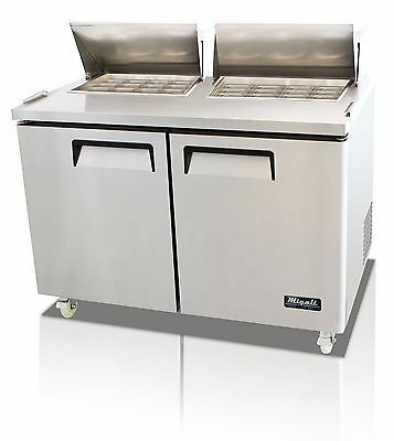 Migali C-SP60-24BT Mega Top Two Door Sandwich Salad Prep Table
