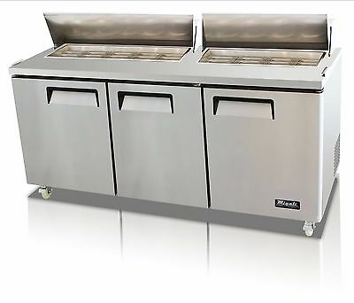 Migali C-SP72-18 Three Door Sandwich Salad Prep Table