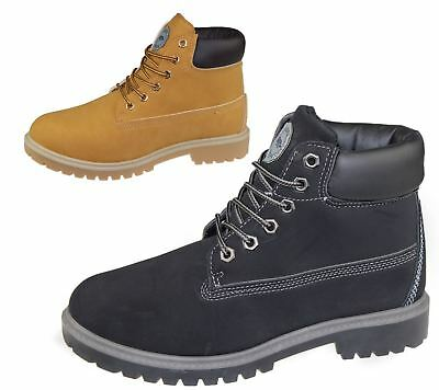 Mens Boots Winter Warm Combat Hiking Work High Top Desert Lace Up Ankle Shoes