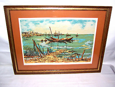 Authenticated Print Limited Edition signed Maurice Du Hut - Lithograph total 275