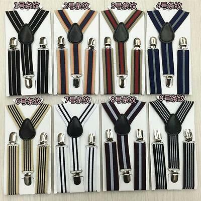 Child Kids Baby Toddler Clip-on Suspenders Boys Girls Elastic Adjustable Braces