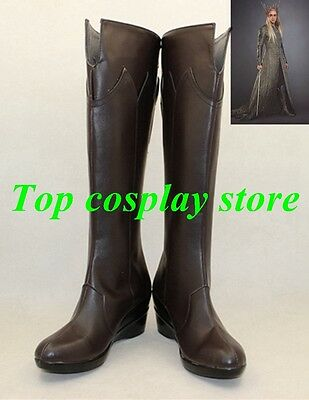 The Hobbit: The Desolation of Smaug Thranduil cosplay shoes boots shoe boot