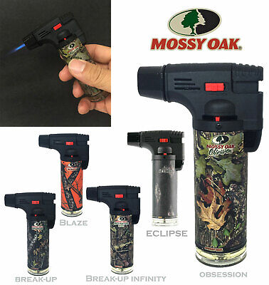12 Pack Mossy Oak Torch Gun Lighter Adjustable Flame Windproof Butane Refillable