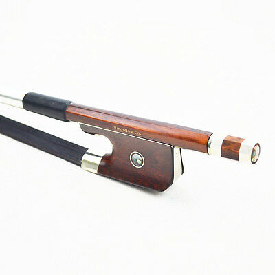 HURRY! - $50 OFF!*BLACK HORSEHAIR Snakewood Double Bass Bow,  4/4 French  Model!