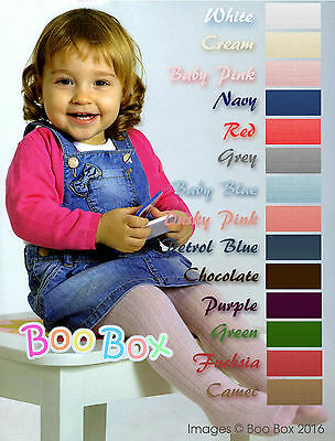Spanish Baby Girls Ribbed Cotton Rich Tights 3, 6, 9, 12, 18 or 24 Months