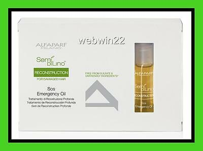 ALFAPARF SDL RECONSTRUCTION SOS Emergency Oil treatment 6 vials for damaged hair