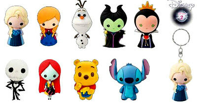Disney Collectible 3D Figural Keychain Series 2 Keyring Mystery Blind Bag
