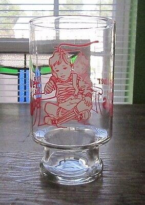 Vintage Large Drinking Glass I'd Rather Be The Boss Child Boy Toddler Red White