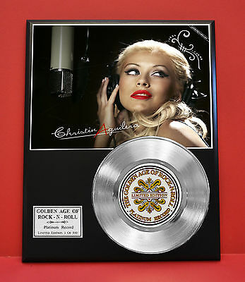 Christina Aguilera - Platinum 45 Record Display Limited Edition - USA Ships Free