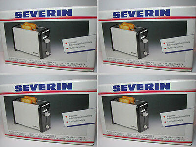 4 STÜCK AUTOMATIK TOASTER / 4 pcs AUTOMATIC TOASTER SEVERIN MADE IN GERMANY NOS