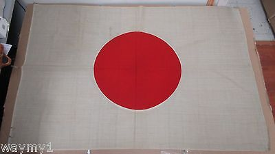 Original Vintage Rare World War II Silk Japan Flag Pacific Marine Souvenir