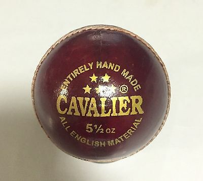 DSC Cavalier 4 Piece Red Cricket Leather Ball 1/2/3/6/12 + AU Stock + Free Ship