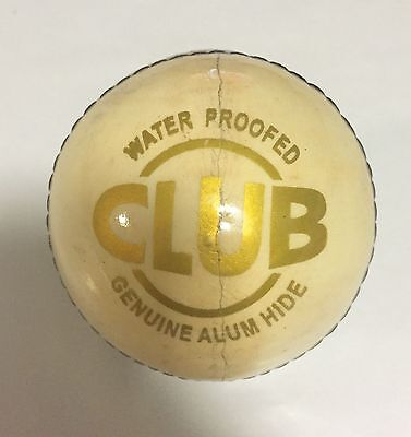 DSC Club 4 Piece White Cricket Leather Ball 1/2/3/6/12 + AU Stock +Free Delivery
