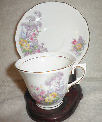 Vintage Collectable Colclough Bone China, Cup and Saucer, Made in England