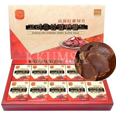 Korean Honey Sliced Red Ginseng Gold 200g (20g x 10packs) Panax ginseng, insam