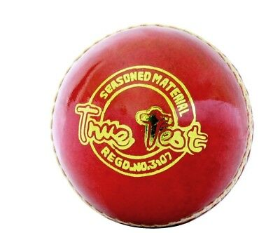 SS TON Cricket World 4 Piece Cricket Red Leather Ball 1/2/3 +AU Stock +Free Ship