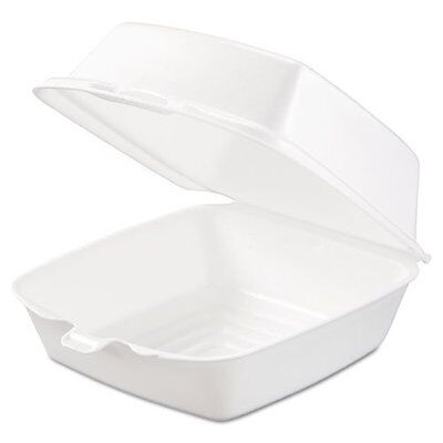 Dart - Carryout Food Containers  Foam  1-Comp  5 7/8 x 6 x 3  White  500/Carton