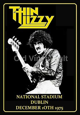 Thin Lizzy Repro Concert Poster National Stadium Dublin 1975