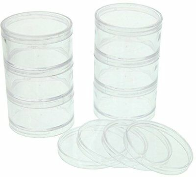 SE 8744SBB 6 Plastic Storage Containers with Stackable Screw On Lids, Clear