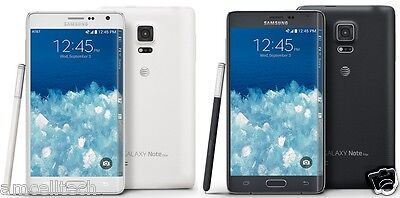 Samsung Galaxy Note Edge SM-N915A AT&T UNLOCKED 4G 32GB 16MP GREAT - White Black
