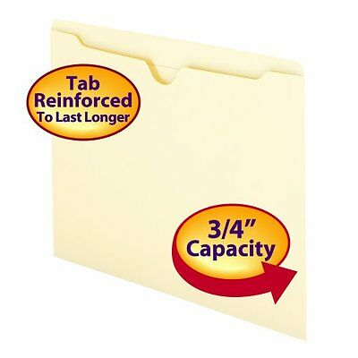 New 100 File Storage Jackets Letter Size Smead Double-Ply Manila 100 ct.