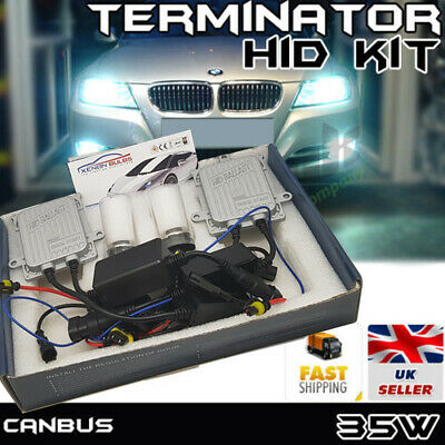 New Canbus Terminator Hid Xenon Conversion Slim Kit H7 H1 H3 Hb4 H11 H8 Uk Stock