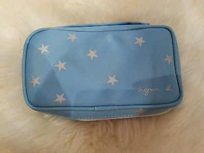Agnes B Cathay Pacific Airlines Airplane Amenity Kit Baby Blue Cosmetic Kit Bag