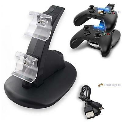 Xbox One Game Controller Charger Dual USB Charging Stand Dock Station Holder FB