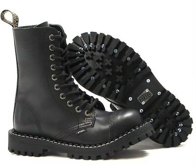 BOOTS STEEL TOE RANGERS 10 HOLE Bovver Skinhead Gothic Punk
