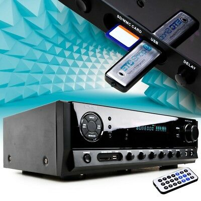 Amplificateur HiFi Karaoké 160 Watt Télécommande Bluetooth SD USB Tuner MP3 neuf