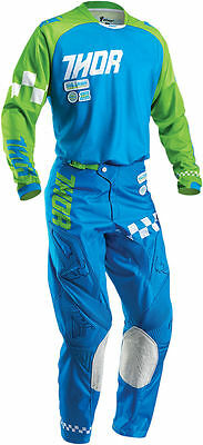 Completo Thor Phase Ramble Blue Green  Taglia 32/48 E L Cross Enduro
