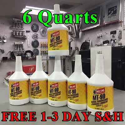 Red Line Oil Synthetic Manual Transmission Lubricant MT90 GL-4 75W90 (6 Quarts)
