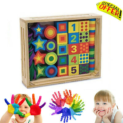 Sensory Toy Wooden Lacing Beads Learning Autism Special Needs Box Set