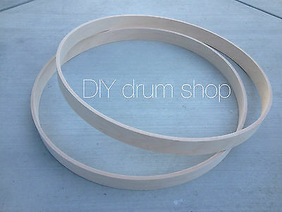 """20"""" Bass Drum Hoops With Round Over And Releif Cut. High Quality Maple! 1 Pair"""
